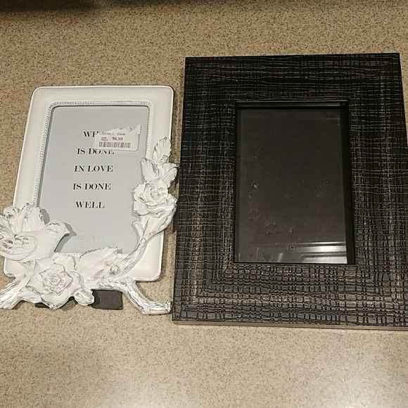 Home Goods Other Set Of 2 4x6 Frames White W Bird Poshmark